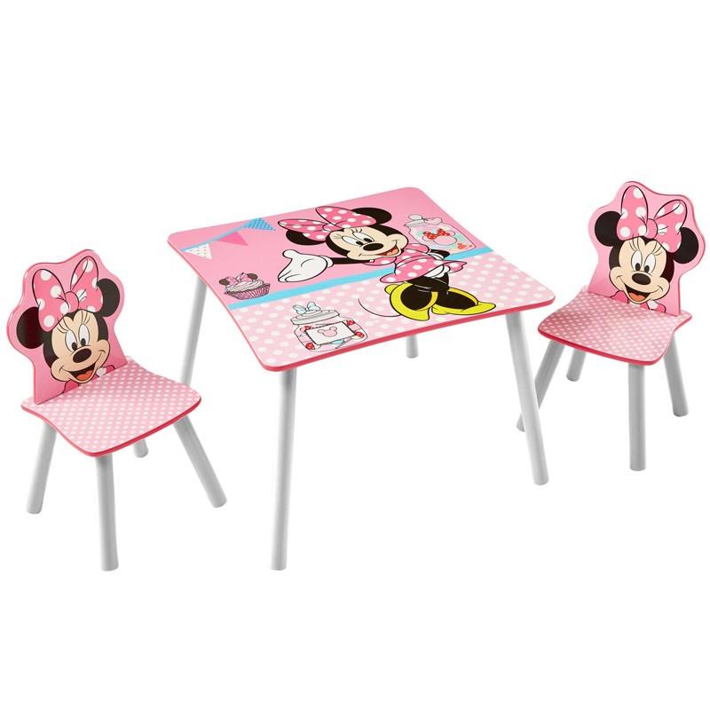 Tavolino Minnie Con Sedie In Legno Disney